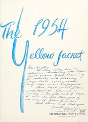 Page 5, 1954 Edition, Stephenville High School - Yellow Jacket Yearbook (Stephenville, TX) online yearbook collection
