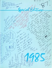 Page 3, 1985 Edition, Alta Loma High School - Sisunga Yearbook (Alta Loma, CA) online yearbook collection
