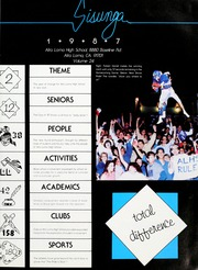 Page 5, 1987 Edition, Alta Loma High School - Sisunga Yearbook (Alta Loma, CA) online yearbook collection