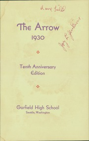 Page 5, 1930 Edition, Garfield High School - Arrow Yearbook (Seattle, WA) online yearbook collection