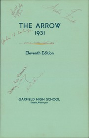 Page 7, 1931 Edition, Garfield High School - Arrow Yearbook (Seattle, WA) online yearbook collection