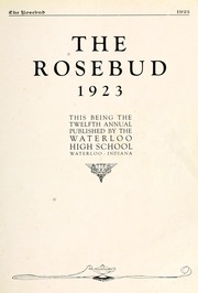 Page 11, 1923 Edition, Waterloo High School - Rosebud Yearbook (Waterloo, IN) online yearbook collection