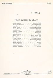 Page 15, 1923 Edition, Waterloo High School - Rosebud Yearbook (Waterloo, IN) online yearbook collection