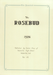 Page 9, 1926 Edition, Waterloo High School - Rosebud Yearbook (Waterloo, IN) online yearbook collection