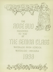 Page 7, 1938 Edition, Waterloo High School - Rosebud Yearbook (Waterloo, IN) online yearbook collection