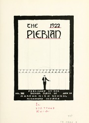 Page 11, 1922 Edition, Morton High School - Pierian Yearbook (Richmond, IN) online yearbook collection