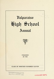 Page 9, 1911 Edition, Valparaiso High School - Valenian Yearbook (Valparaiso, IN) online yearbook collection