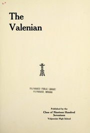 Page 9, 1917 Edition, Valparaiso High School - Valenian Yearbook (Valparaiso, IN) online yearbook collection