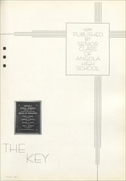 Page 7, 1935 Edition, Angola High School - Key Yearbook (Angola, IN) online yearbook collection