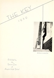 Page 5, 1939 Edition, Angola High School - Key Yearbook (Angola, IN) online yearbook collection