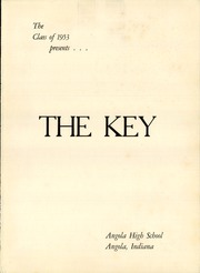 Page 5, 1953 Edition, Angola High School - Key Yearbook (Angola, IN) online yearbook collection