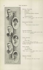 Page 10, 1915 Edition, West High School - Occident Yearbook (Columbus, OH) online yearbook collection