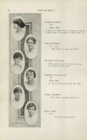 Page 12, 1915 Edition, West High School - Occident Yearbook (Columbus, OH) online yearbook collection
