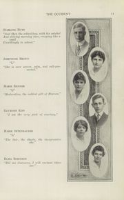 Page 13, 1915 Edition, West High School - Occident Yearbook (Columbus, OH) online yearbook collection