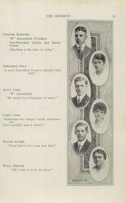Page 15, 1915 Edition, West High School - Occident Yearbook (Columbus, OH) online yearbook collection