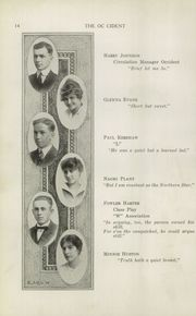 Page 16, 1915 Edition, West High School - Occident Yearbook (Columbus, OH) online yearbook collection