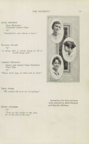 Page 17, 1915 Edition, West High School - Occident Yearbook (Columbus, OH) online yearbook collection
