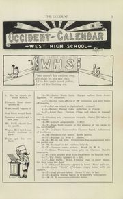 Page 5, 1915 Edition, West High School - Occident Yearbook (Columbus, OH) online yearbook collection