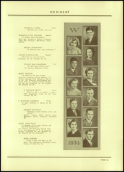 Page 17, 1934 Edition, West High School - Occident Yearbook (Columbus, OH) online yearbook collection