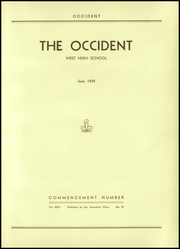 Page 5, 1934 Edition, West High School - Occident Yearbook (Columbus, OH) online yearbook collection