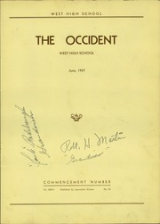 Page 5, 1937 Edition, West High School - Occident Yearbook (Columbus, OH) online yearbook collection