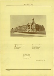 Page 8, 1937 Edition, West High School - Occident Yearbook (Columbus, OH) online yearbook collection