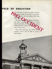 Page 9, 1942 Edition, West High School - Occident Yearbook (Columbus, OH) online yearbook collection