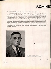 Page 12, 1943 Edition, West High School - Occident Yearbook (Columbus, OH) online yearbook collection