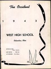 Page 7, 1943 Edition, West High School - Occident Yearbook (Columbus, OH) online yearbook collection