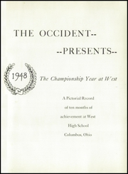 Page 5, 1948 Edition, West High School - Occident Yearbook (Columbus, OH) online yearbook collection