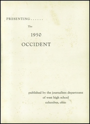 Page 5, 1950 Edition, West High School - Occident Yearbook (Columbus, OH) online yearbook collection