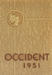 1951 Edition, West High School - Occident Yearbook (Columbus, OH)