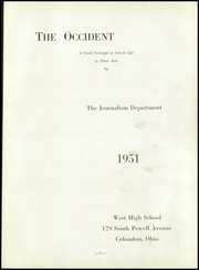 Page 7, 1951 Edition, West High School - Occident Yearbook (Columbus, OH) online yearbook collection