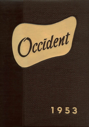 1953 Edition, West High School - Occident Yearbook (Columbus, OH)