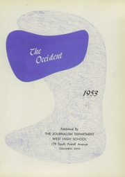 Page 5, 1953 Edition, West High School - Occident Yearbook (Columbus, OH) online yearbook collection