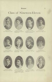 Page 13, 1911 Edition, East Liverpool High School - Keramos Yearbook (East Liverpool, OH) online yearbook collection
