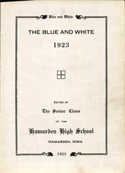 Page 5, 1923 Edition, Hawarden High School - Comet Yearbook (Hawarden, IA) online yearbook collection