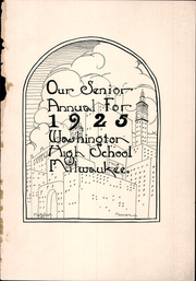 Page 5, 1925 Edition, Washington High School - Scroll Yearbook (Milwaukee, WI) online yearbook collection