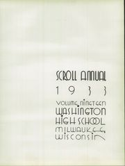 Page 11, 1933 Edition, Washington High School - Scroll Yearbook (Milwaukee, WI) online yearbook collection