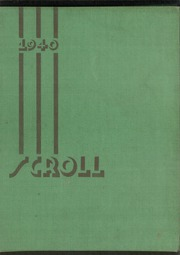 Page 1, 1940 Edition, Washington High School - Scroll Yearbook (Milwaukee, WI) online yearbook collection