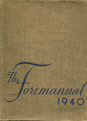 1940 Edition, Foreman High School - Foremanual Yearbook (Chicago, IL)