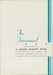 Page 7, 1944 Edition, Foreman High School - Foremanual Yearbook (Chicago, IL) online yearbook collection