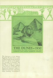 Page 7, 1930 Edition, Hammond High School - Dunes Yearbook (Hammond, IN) online yearbook collection