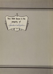 Page 2, 1959 Edition, Hammond High School - Dunes Yearbook (Hammond, IN) online yearbook collection