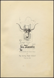 Page 7, 1927 Edition, Big Spring High School - El Rodeo Yearbook (Big Spring, TX) online yearbook collection