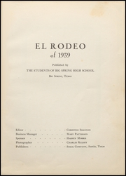 Page 7, 1939 Edition, Big Spring High School - El Rodeo Yearbook (Big Spring, TX) online yearbook collection