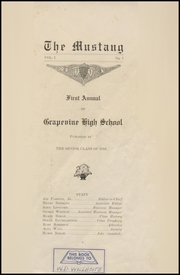 Page 3, 1916 Edition, Grapevine High School - Mustang Yearbook (Grapevine, TX) online yearbook collection