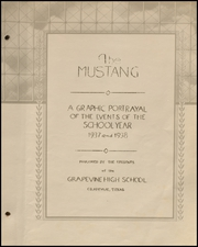 Page 5, 1938 Edition, Grapevine High School - Mustang Yearbook (Grapevine, TX) online yearbook collection