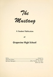 Page 5, 1954 Edition, Grapevine High School - Mustang Yearbook (Grapevine, TX) online yearbook collection