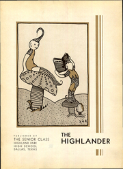 Page 13, 1933 Edition, Highland Park High School - Highlander Yearbook (Dallas, TX) online yearbook collection